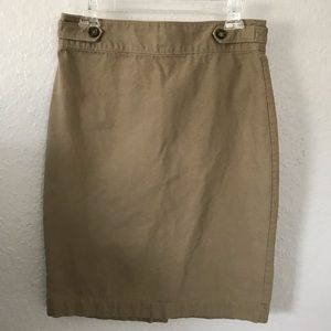 Banana Republic Khaki Pencil Skirt